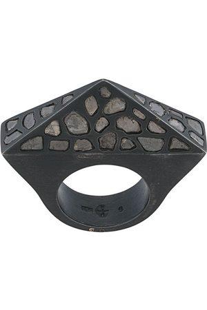 PARTS OF FOUR Rings - Cresent bridge Pyramid ring - Metallic