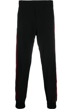 Alexander McQueen Logo tape track trousers