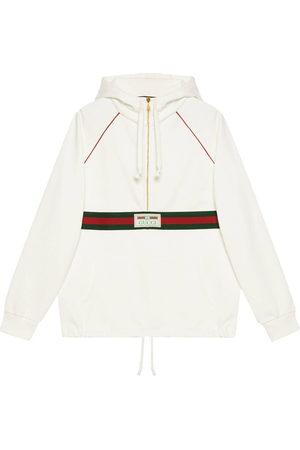 Gucci Men Hoodies - Web stripe-print hoodie