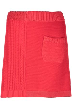 Barrie Cable knit A-line skirt