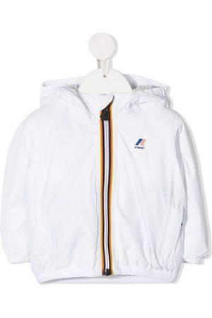 K-Way Logo-print hooded jacket