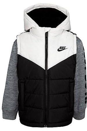 Nike Boys' Little Kids' 2Fer Puffer Jacket in Size 4 100% Polyester/Fleece/Taffeta