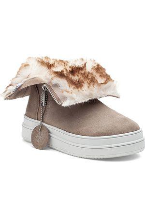 JSLIDES Women's Tristan Faux Fur Lined Waterproof Sneaker Boots