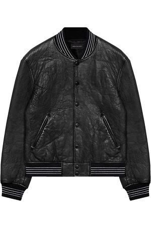 JOHN ELLIOTT Men's Stadium Leather Jacket - - Size Small