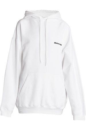 Balenciaga Women's Medium-Fit Logo Hoodie - - Size XS