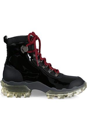 Moncler Women's Helis Patent Leather Hiking Boots - - Size 40.5 (10.5)