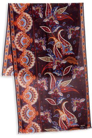 Kiton Men's Multi Floral Silk Scarf