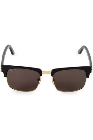 Cartier Men's 54MM Square Sunglasses
