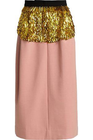RACHEL COMEY Women's Tuscala Sequin Midi Skirt - - Size 10