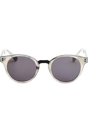 ILLESTEVA Women Round - Amalfi Grey Marble Round Sunglasses
