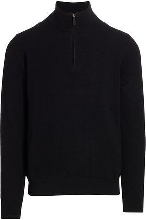 Saks Fifth Avenue Men's COLLECTION Cashmere Half-Zip Sweater - - Size Large