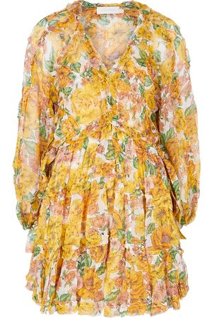 ZIMMERMANN Poppy floral-print silk-georgette mini dress