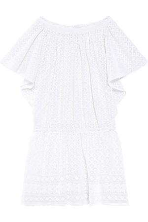 Melissa Odabash Woman Michelle Off-the-shoulder Embroidered Gauze Mini Dress Size L