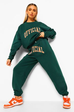Boohoo Women Hoodies - Womens Official Applique Sweater Tracksuit - - S