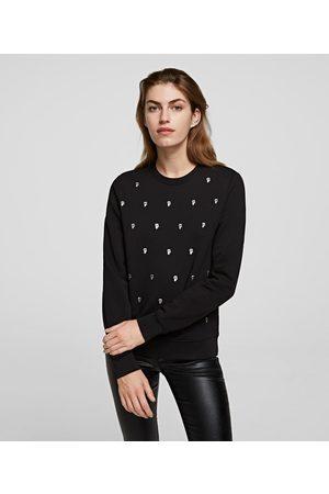 Karl Lagerfeld Women Sweatshirts - K/IKONIK ALL-OVER PRINT SWEATSHIRT