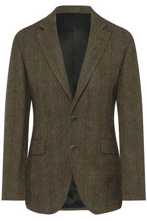 Hackett Wool Herringbone Tattersal Check