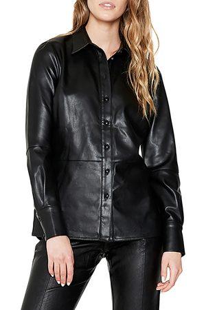 Bardot Women's Faux Leather Shirt Jacket