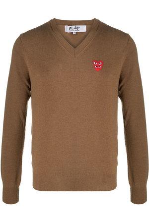 Comme des Garçons Logo heart embroidered jumper