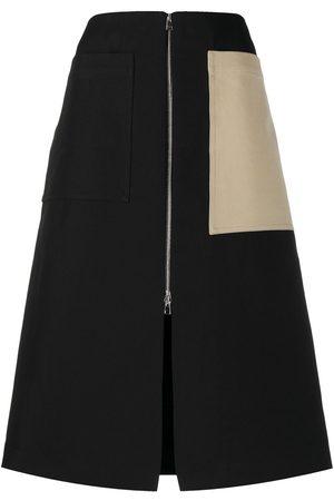 Colville Colour-block midi skirt