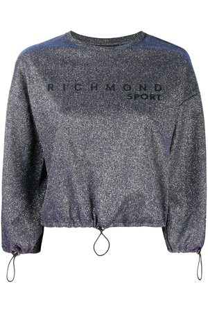 John Richmond Metallic cropped sweatshirt