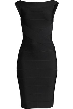 Hervé Léger Women's Off-The-Shoulder Bandage Cocktail Dress - - Size XS