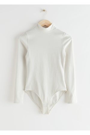 & OTHER STORIES Ribbed Mock Neck Bodysuit