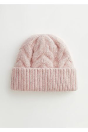 & OTHER STORIES Chunky Braid Knit Beanie
