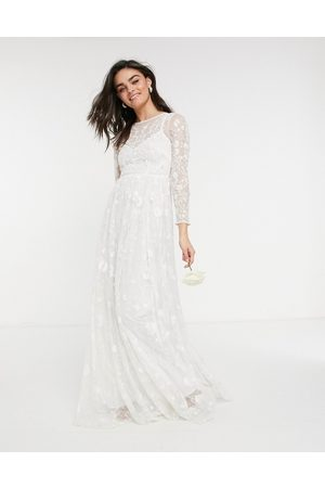 ASOS Women Party Dresses - Ava all over embellished and embroidered wedding dress