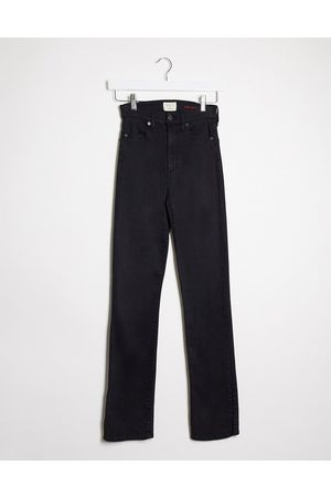 ALICE+OLIVIA Jeans high rise kick flare jeans in black
