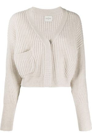 LE KASHA Monaco cropped cashmere cardigan - Neutrals