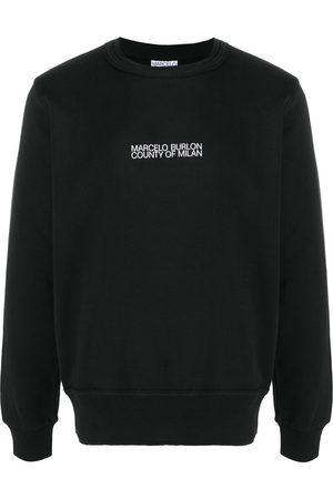 MARCELO BURLON Multi Faces crew-neck sweatshirt