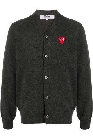 Comme des Garçons Logo button-down cardigan - Grey