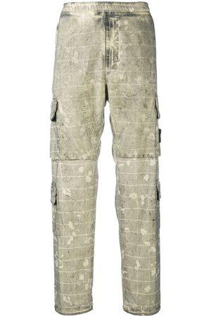 Stone Island Men Cargo Pants - Camouflage-print cargo trousers - Neutrals