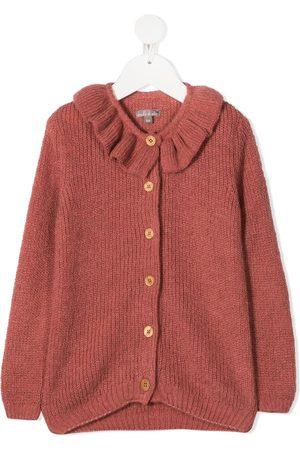 Emile et ida Girls Cardigans - Ruffle knit cardigan