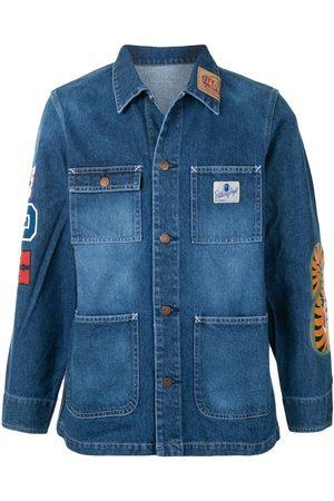 A BATHING APE® Shark patch-pocket denim jacket