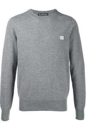 Acne Studios Face patch wool jumper - Grey