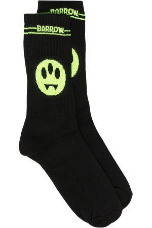 BARROW Logo intarsia mid-calf socks