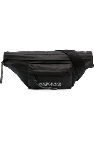 MARCELO BURLON Logo-print belt bag