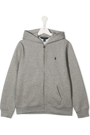 Ralph Lauren Boys Hoodies - Logo-embroidered hoodie - Grey