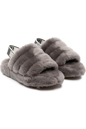 UGG Boys Sandals - Fluff Yeah shearling sandals - Grey
