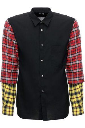 Comme des Garçons Patchwork Tartan Tech & Cotton Shirt