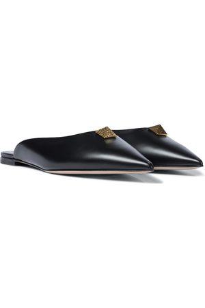 VALENTINO GARAVANI Exclusive to Mytheresa – Roman Stud leather slippers
