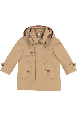 Burberry Hooded cotton twill coat