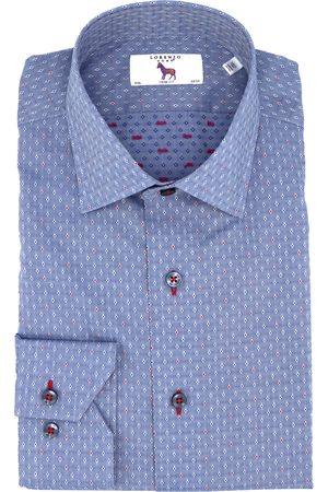 LORENZO UOMO Men's Trim Fit Diamond Dress Shirt
