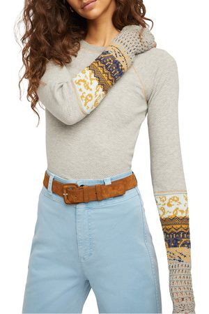 Free People Women's In The Mix Jacquard Cuff Top