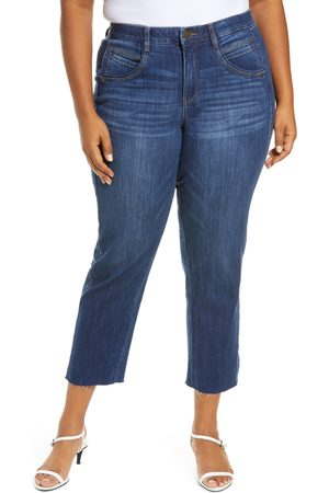 Wit & Wisdom Plus Size Women's Ab-Solution High Waist Ankle Slim Straight Leg Jeans