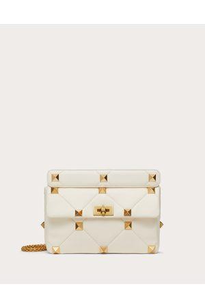 VALENTINO GARAVANI Women Shoulder Bags - Roman Stud Nappa Chain Bag Women Ivory 100% Lambskin OneSize