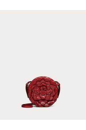 VALENTINO GARAVANI 03 Rose Edition Atelier Round Crossbody Bag Women Rosso Valentino Lambskin 100% OneSize