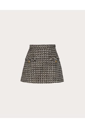 VALENTINO Sensation Lurex Tweed Mini Skirt Women / Virgin Wool 60%, Acrylic 26%, Polyester 4% 38