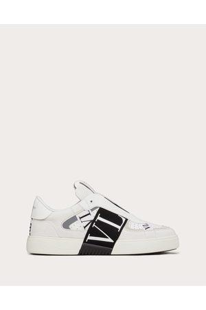VALENTINO GARAVANI Slip-on Calfskin Vl7n Sneaker With Bands Man / Polyurethane 55%, Cotton 45% 39